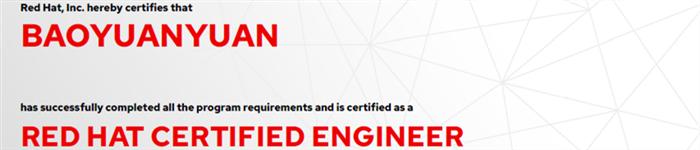 捷讯:鲍媛媛7月5日上海顺利通过RHCE认证。