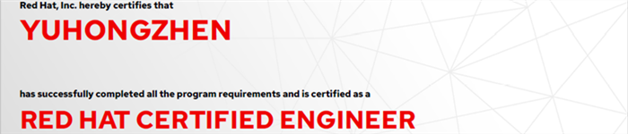 捷讯:余洪真6月28日上海顺利通过RHCE认证。