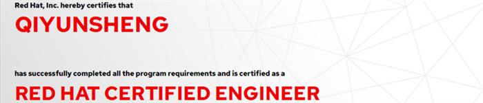 捷讯:齐云生7月2日北京顺利通过RHCE认证。