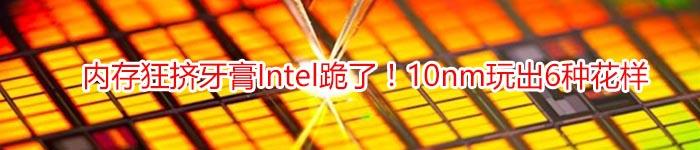 内存狂挤牙膏Intel跪了!10nm玩出6种花样