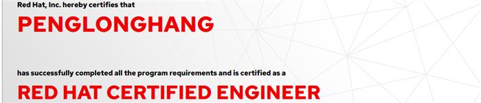 捷讯:彭龙航8月6日北京顺利通过RHCE认证。