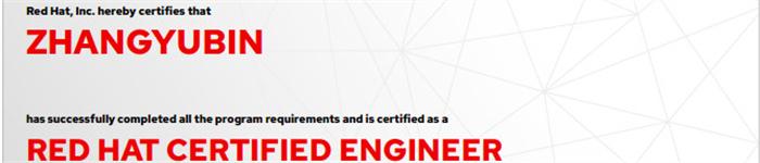 捷讯:张玉彬8月6日北京顺利通过RHCE认证。
