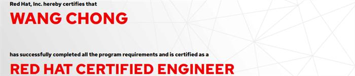 捷讯:王翀8月8日上海顺利通过RHCE认证。