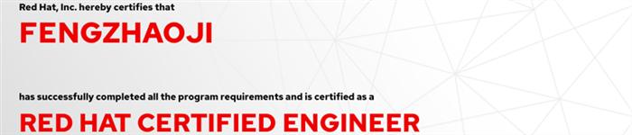 捷讯:冯兆吉8月9日上海顺利通过RHCE认证。