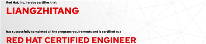 捷讯:梁志棠8月9日上海顺利通过RHCE认证。