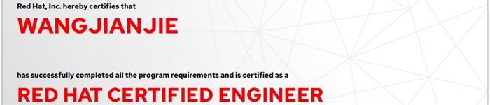 捷讯:王建杰8月6日北京顺利通过RHCE认证。