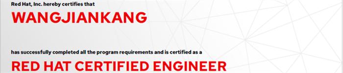 捷讯:王建康8月6日北京顺利通过RHCE认证。