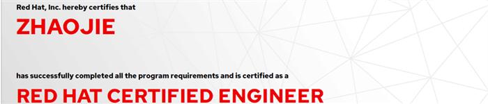 捷讯:赵杰8月6日北京顺利通过RHCE认证。