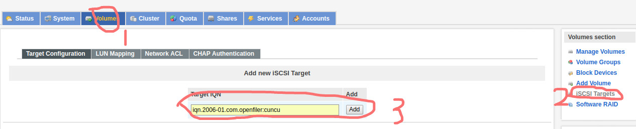 Openfiler配置ISCSI Target及FC TargetOpenfiler配置ISCSI Target及FC Target
