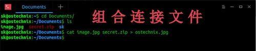 在Linux上实现将文件隐藏到图像中