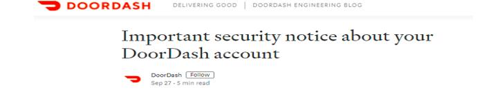 影响490万人的卖服务DoorDash数据泄露