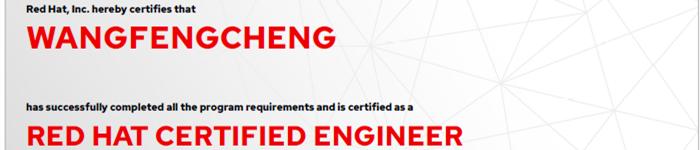 捷讯:王峰成9月6日上海顺利通过RHCE认证。