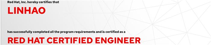 捷讯:林昊9月6日上海顺利通过RHCE认证。