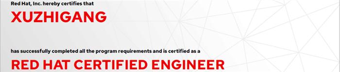 捷讯:许志刚9月6日上海顺利通过RHCE认证。