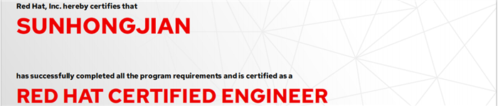 捷讯:孙宏舰8月23日北京顺利通过RHCE认证。