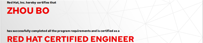 捷讯:周波9月9日广州双满分通过RHCE认证。