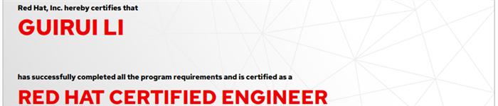 捷讯:李桂锐9月9日广州顺利通过RHCE认证。