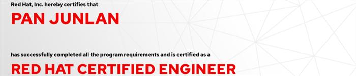 捷讯:潘俊兰9月9日广州顺利通过RHCE认证。