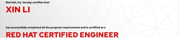 捷讯:李欣9月9日上海顺利通过RHCE认证。