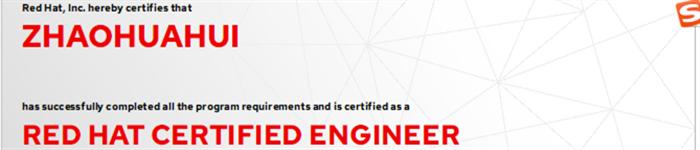 捷讯:赵华辉8月23日北京顺利通过RHCE认证。