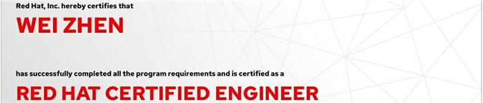 捷讯:魏震8月23日北京顺利通过RHCE认证。