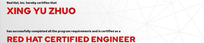 捷讯:邢钰卓8月23日北京顺利通过RHCE认证。