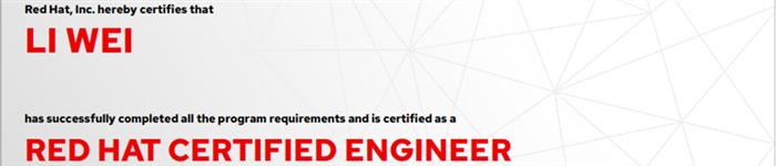 捷讯:李卫9月30日北京顺利通过RHCE认证。
