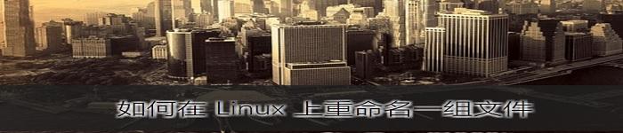 分享Linux 上重命名一组文件的方法