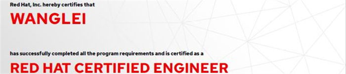 捷讯:王磊10月28日北京顺利通过RHCE认证。
