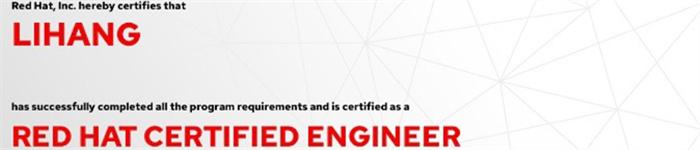 捷讯:李航10月28日上海顺利通过RHCE认证。