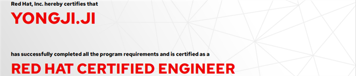 捷讯:季永吉10月28日上海顺利通过RHCE认证。