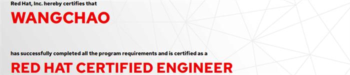 捷讯:王超10月28日上海顺利通过RHCE认证。