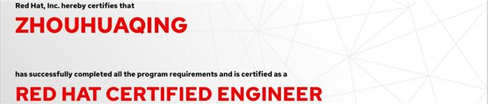 捷讯:周华清10月28日上海顺利通过RHCE认证。