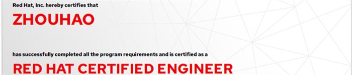 捷讯:周昊10月28日上海顺利通过RHCE认证。