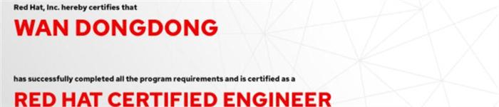 捷讯:万栋栋10月18日北京双满分通过RHCE认证。