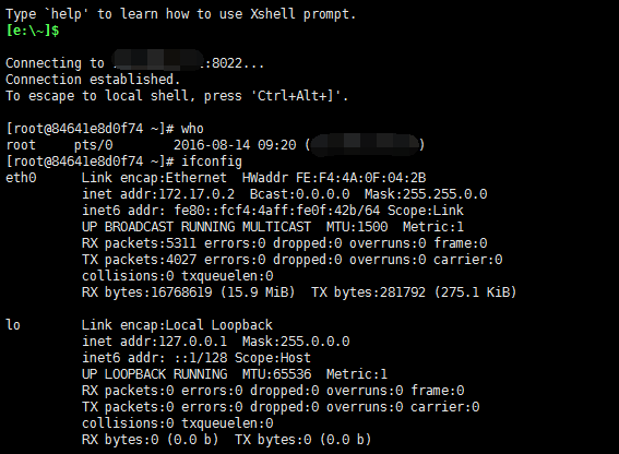 通过ssh登录docker容器通过ssh登录docker容器