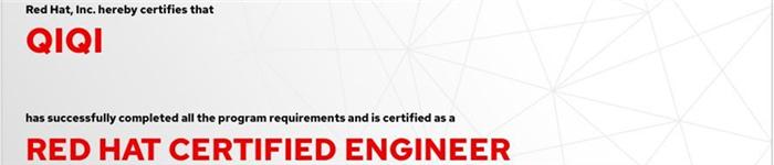 捷讯:祁启11月25日上海顺利通过RHCE认证。