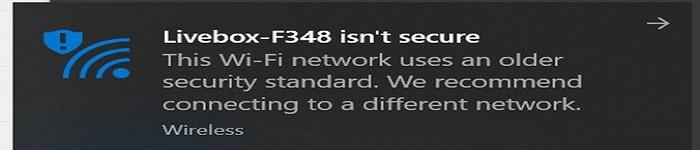 Win10将拒绝接入WEP和TKIP协议的WiFi网络