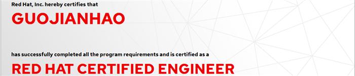 捷讯:郭建豪10月31日济南顺利通过RHCE认证。