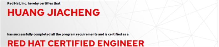 捷讯:黄嘉成10月31日上海顺利通过RHCE认证。