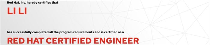 捷讯:黎力11月22日东京顺利通过RHCE认证。