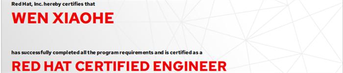 捷讯:文晓鹤10月31日广州顺利通过RHCE认证。