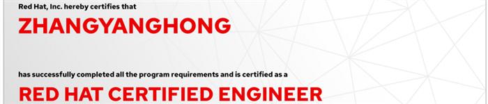 捷讯:张洋鸿10月31日上海顺利通过RHCE认证。