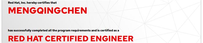 捷讯:孟庆晨11月26日北京顺利通过RHCE认证。
