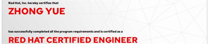捷讯:钟粤11月11日深圳顺利通过RHCE认证。