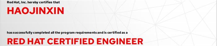 捷讯:郝金鑫10月31日上海顺利通过RHCE认证。