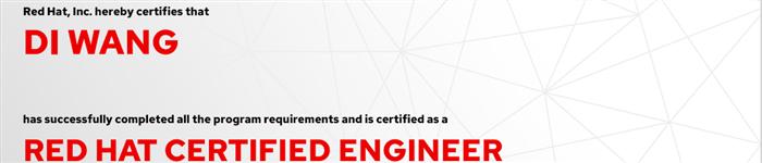 捷讯:王迪11月1日深圳顺利通过RHCE认证。