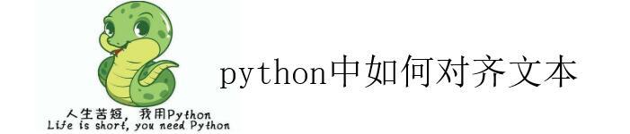 说说在 python 中,如何对齐文本