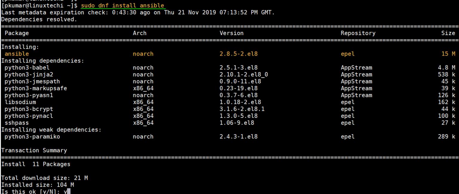 如何在 CentOS 8 和 RHEL 8 系统上安装和使用 Ansible如何在 CentOS 8 和 RHEL 8 系统上安装和使用 Ansible