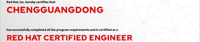 捷讯:程广栋12月6日北京顺利通过RHCE认证。